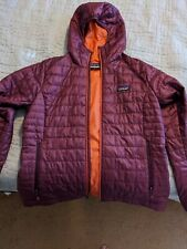 Womens patagonia nano puff jacket large With Hood