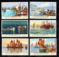 Fishing Boats Mediterranean 1939 Card Set Liebig Tuna Trawler Sailing Peche Fish