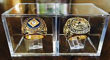 Chicago Cubs 1907 & 1908 World Series Championship Ring w/ Displays Cube USA Lot