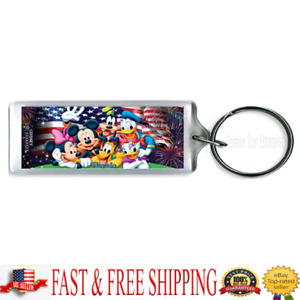 Disney Keychain Disney  Party in the USA Lucite Keychain (Florida Namedrop)