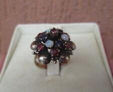 anello borbonico autentico in oro  opali, zaffiri  e rubini perfetto