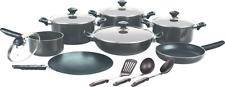 Non Stick Casserole Cooking Dish Pot Frying Pans Saucepan+Glass Lid Cookware Set