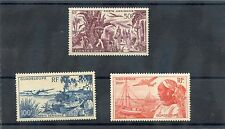 GUADELOUPE Sc C10-2(YT A13-5)**F-VF NH 1947 AIRMAIL SET $105