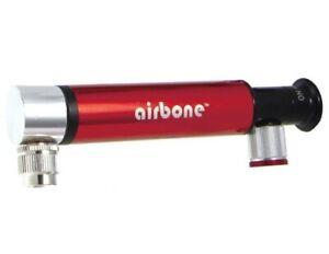 Airbone Dual CO2 Compact Cycle Mini Pump Schrader & Presta Valve RED