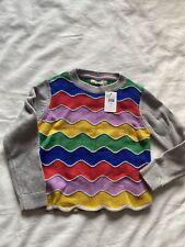 Nwt Mini Boden Grey Marl Rainbow Sweater Size 7-8y