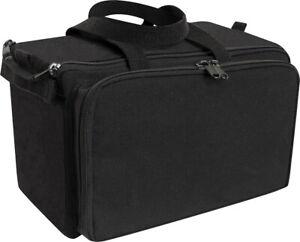 Black Canvas Tactical Shooting Range Bag Firearm Carry Gear