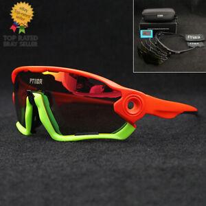 Polarized Cycling Riding Driving Bike Sun Glasses Sports Goggle 5 Lenses UV400