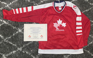 lindros TEAM CANADA CCM Limited Edition hockey jersey 1992 large COA