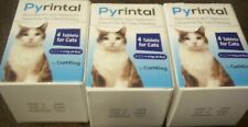 (3) PYRINTAL DEWORMER for Cats 4 tablets 11/2022 NIB