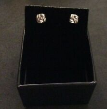 NEW IN BOX 9CT WHITE GOLD STUD EARRINGS