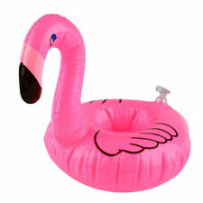 Pink Flamingo Floating Inflatable Drink Can Holder tray Pool Bath Water Fun Toy