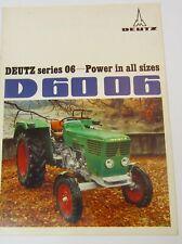 D6006 Deutz Tractor Brochure