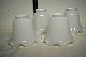 Vintage Light Replacement Shades Pure White - set of 4 VGUC
