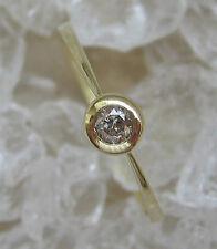 ✨✨0,10 ct.✨✨ Brillant Ring in aus 585 Gold mit Brilliant Diamant Solitär Diamond