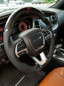 2010-2018  Dodge Ram Ferrari Racing Design Real Carbon Fiber  Steering Wheel