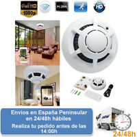 Detector humos con camara oculta espia vigilancia seguridad wifi (Envio express)