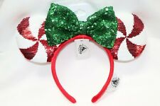 NEW DISNEY PARKS MINNIE MOUSE 2019 CANDY CANE CUTIE PEPPERMINT EARS HEADBAND