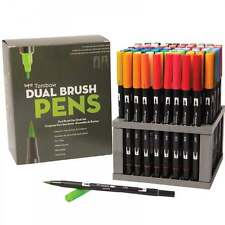 Tombow Brush Pen 96 Colour DESK SET. Double Ended Artist & Craft Marker Pens