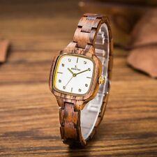 Holzuhr Damenuhr Sandelholz Woodwatch Handgefertigt Natur Miyota Vintage Elegant