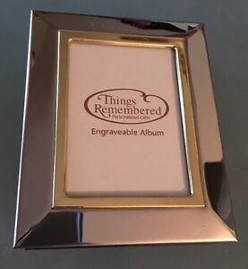 Silver Photo Album 4 X 6 Wedding Bridal Personalized Engraved Gift GEORGIA