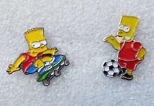 Set of 2 Bart Simpson enamel pin lapel badges The Simpson Family
