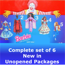 McDonald's 1996/97 Barbie toys COMPLETE 1-5 Dolls of the World Dutch Kenyan + <3