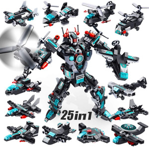 VATOS 25-in-1 Robot Building Toys,577 PCS Creative Construction Toys-6+ Year Old