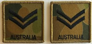 DPCU Army Australia Rank CPL Patches X2 with Hook Backing