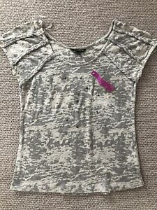 M&S Limited Collection-Lovely BNWT Grey and Pink Vest Top Size 8
