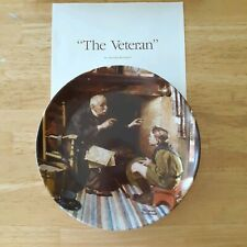 The Veteran Norman Rockwell collector plate Heritage Collection series Boy Scout