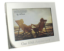 Personalised Engraved Our Anniversary 25 40 50 60 Silver Plated Photo Frame Gift No - Wg54960
