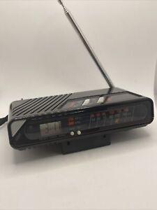 Vintage Pocket AM/FM Radio Alarm Digital Clock Model CR-223 - 2 x AA