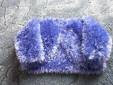 Bolero in Funky Fur Yarn 1-2 yrs in Violet