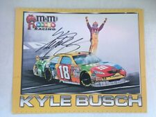 NASCAR Kyle Busch #18 ORIGINAL Autographed Hand Signed 8x10 picture hero card