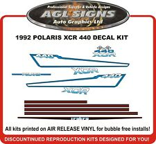 1992 POLARIS XCR 440 Reproduction decal kit   graphics stickers