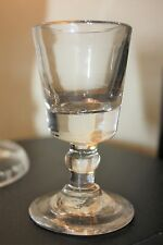 Late Georgian Dram Gin Glass with Deceptive Bucket Bowl & Ball Knop Stem 10 cm