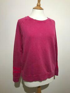 New Hush Alanis Sweat Top Sweatshirt Large washed Pink