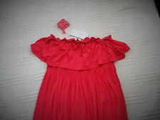 BNWT   size 10     PINK  JERSEY  MAXI  DRESS with FRILLS         optional straps