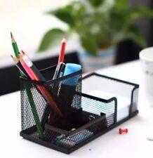 Metal Desktop Holder Office Storage Box Pencil Pen Desk Mesh Organizer Black