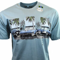 "Chevy Classic Cars Men's T-shirt ""Newport Blue"" GM Chevrolet-Bahama 100% Cotton"