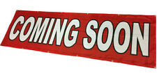 COMING SOON Banner Sign Vinyl Alternative Store Sale 3x10 ft - Fabric rb