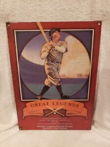 VERY RARE Babe Ruth Metal Porcelain Sign, New York Yankees, VERY COOL!!