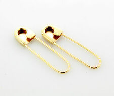 14k Yellow Gold Safety Pin Earrings