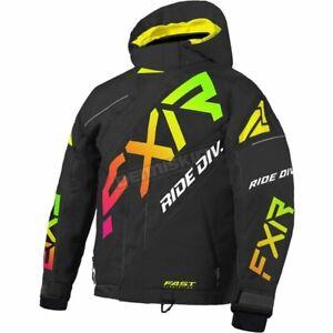 FXR Racing Youth Black/Sherbert CX Jacket - 210411-1074-12