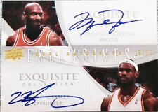 2007-08 UD Exquisite Michael Jordan & Lebron James Dual AUTO RP SUPER RARE SSP!