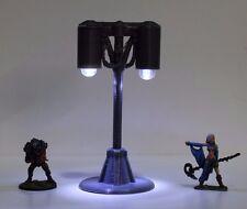 Miniature Street Light, Terrain,  40k, Necromunda, Infinity, Sci-Fi, Double Lamp