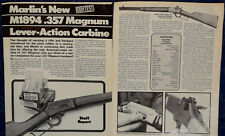 ORIGINAL Article MARLIN Model 1894 .357 Mag Lever-Action RIFLE 3-p Magazine 1979