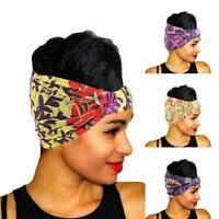 Ladies Flexible Beaded Head Wrap African Print Headscarf Cap Headband H0Q0