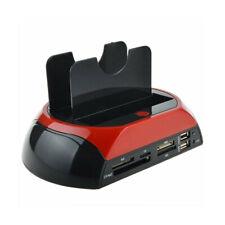 DOCKING STATION 2 HARD DISK 2.5 3.5 SATA IDE E-SATA USB 2.0 3.0 E LETTORE HDD SD