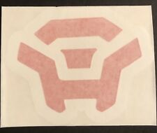 """Anthem Game Colossus Javelin Red White Vinyl Decal Auto Car Vehicle 4""""x4.5"""""""